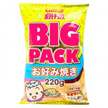 CALBEE - Potato Chips okonomiyaki Flavoured giga Pack - 220G