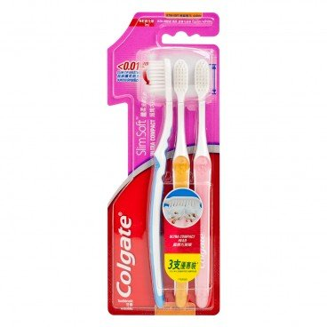 COLGATE - Slimsoft Ultra Compact Head Toothbrush Tri Pack - 3'S