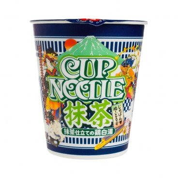 NISSIN - Green Tea White Chicken Soup Cup Noodles - 78G