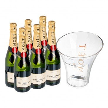 MOET & CHANDON - Imperial X 6 With Ice Bucket - SET
