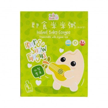 BABY BASIC - Baby Congee squeeze Pouch Pear Snow Fungus Box - 120G*4