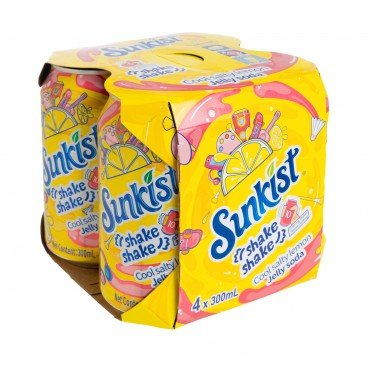 SUNKIST - Salty Lemon Jelly Soda - 300MLX4