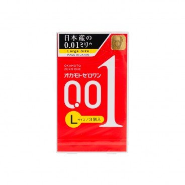 OKAMOTO - 0 01 Zero One Ultra Thin Condom large - 3'S