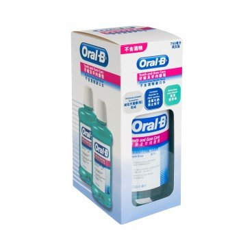 ORAL-B - Tooth gum Care Alcohol Free Mouth Rinse 750 ml Twinpack - 750MLX2