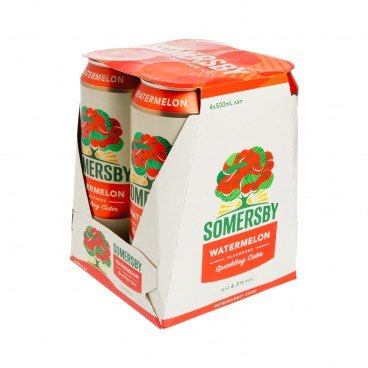 SOMERSBY - Watermelon Cider King Can - 500MLX4