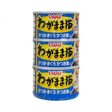INABA - Bonito Tuna And Whitebait Canned For Cats - 140GX3