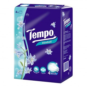 TEMPO得寶 - 4 ply Bluebell Softpack Facial Tissue - 4'S