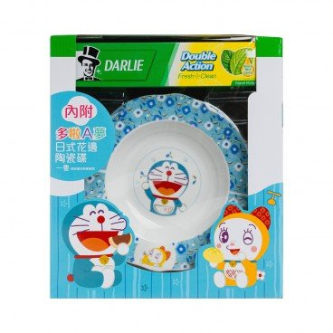 DARLIE - Double Action Toothpaste With Doraemon Bowl - SET