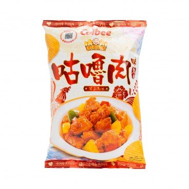 CALBEE - Sweet sour Pork Flavoured Potato Chips - 70G