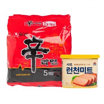 DIY COMBO-KOREAN INSTANT NOODLES WITH LUCHEON MEAT