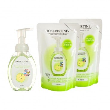 JOSERISTINE BY CHOI FUNG HONG - Green Apple Moisturizing Hand Wash Mousse 1 2 Bundle Set - SET
