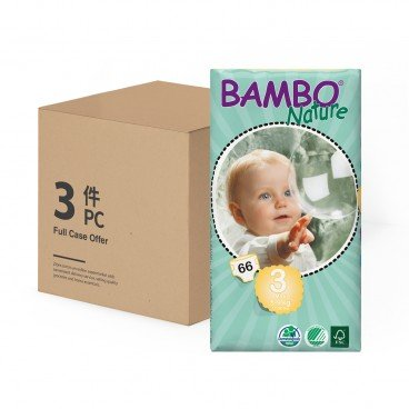 BAMBO NATURE - Eco Friendly Baby Diapers small Size 3 - 66'SX3