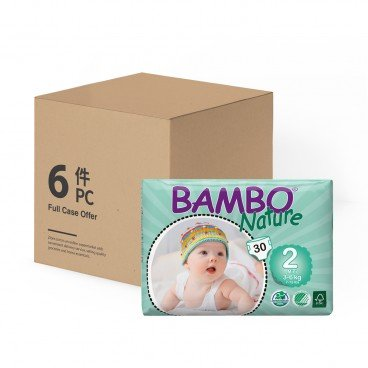 BAMBO NATURE - Eco Friendly Baby Diapers extra Small Size 2 - 30'SX6