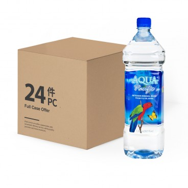 AQUA PACIFIC Natural Mineral Water case Offer 1.5LX24