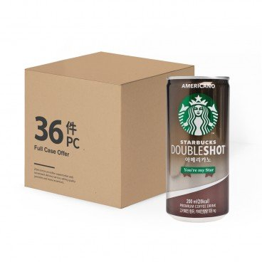 STARBUCKS Double Shot Americano 200MLX36