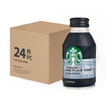 STARBUCKS Pike Place Roast Black Coffee 275MLX24