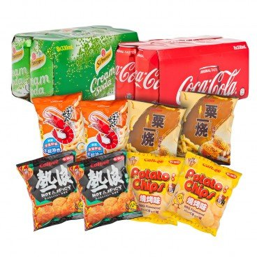 SELECTED SOFT DRINK AND SNACK COMBO
