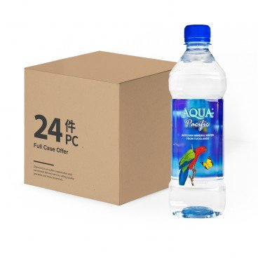 AQUA PACIFIC Natural Mineral Water case Offer 600MLX24