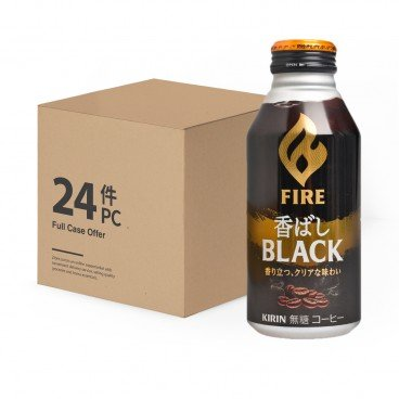 KIRIN Fire Sugar free Roasted Black Coffee case Offer 400MLX24