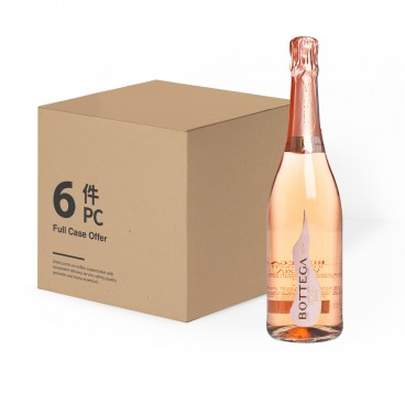 BOTTEGA Rose Venezia Doc Brut Nv case Offer 750MLX6