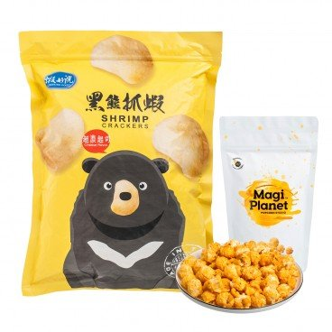 SET-TAIWAN POPCORN & SHRIMP CRACKERS