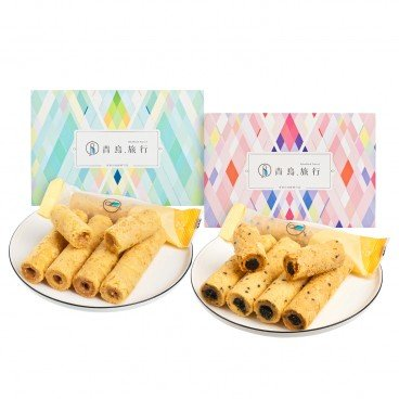 BLUE BIRD TRAVEL Set Eanut Filling Egg Rolls Black Sesame Egg Rolls SET