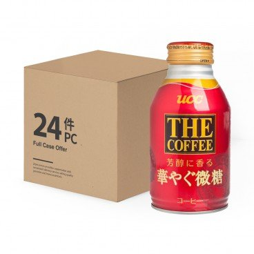 UCC Hanayagu Coffee low Sugar case Offer 260MLX24