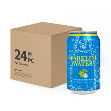 SCHWEPPES Lime Flavoured Sparkling Water case Offer 330MLX24
