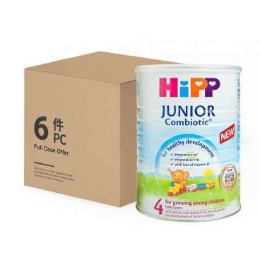 HIPP 4 Junior Combiotic Growing up milk case Offer 800GX6