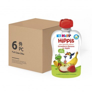 HIPP - Organic Strawberry Banana In Apple case Offer - 100GX6