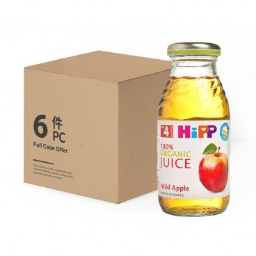 HIPP Organic Mild Apple Juice Bundle 200MLX6