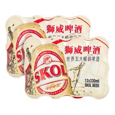 SKOL - Beer full Case - 330MLX12X2