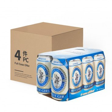 BLUE GIRL - Beer Can full Case - 330MLX6X4