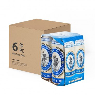 BLUE GIRL Beer King Can full Case 500MLX4X6