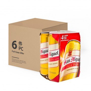 SAN MIGUEL - Beer King Can full Case - 500MLX4X6