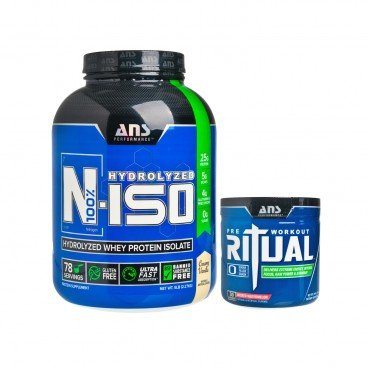 ADVANCED NUTRACEUTICAL SCIENCES Set pre workout Supplement whey Isolate Protein 240G+2.27KG