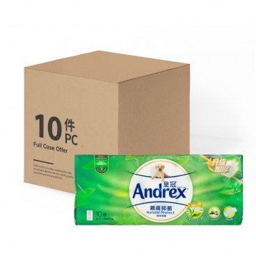 ANDREX Printed Scented Bathroom Tissue 3 Ply greentea full Case 10'SX10