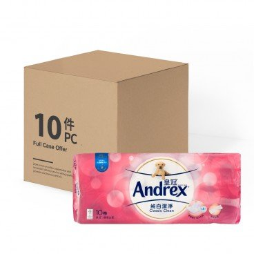 ANDREX Ultra White Bathroom Tissue 3 Ply full Case 10'SX10