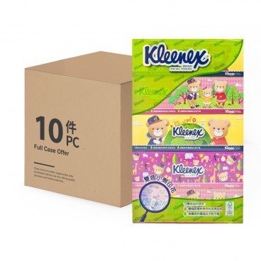KLEENEX Teddy Bear Facial Box Tissue full Case 5'SX10