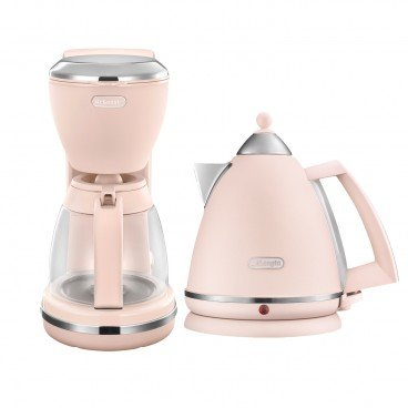 DE'LONGHI Argento Flora Series Water Kettle Drip Coffee Maker Set peony Rose SET