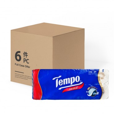 TEMPO得寶 Bathroom Tissue 3 Ply neutral full Case 10'SX6
