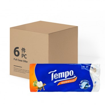 TEMPO得寶 Bathroom Tissue 3 Ply applewood full Case 10'SX6