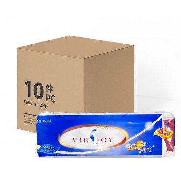 VIRJOY Best Saver Roll Tissue full Case 12'SX10
