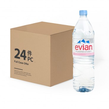 EVIAN Natural Mineral Water 2 Cases 1.5LX12X2