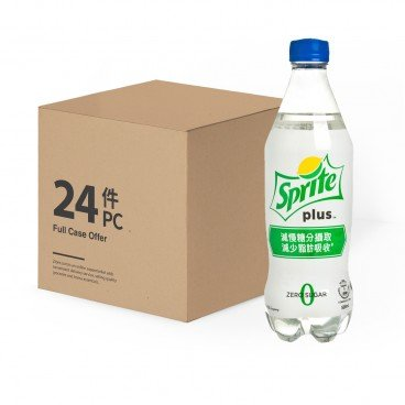 SPRITE - Sprite Plus lemon lime Flavoured Soda case Offer - 500MLX24