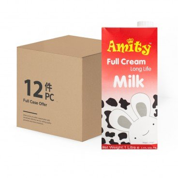 AMITY - Full Cream Long Life Milk - 1LX12