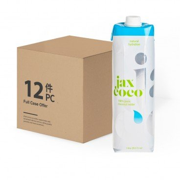 JAX COCO 100 Pure Coconut Water 1LX12
