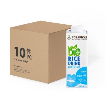 THE BRIDGE - Bio Rice Drink natural - 250MLX10
