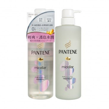 PANTENE Micellar Pure Natul Hair Care Bundle 500ML+500G