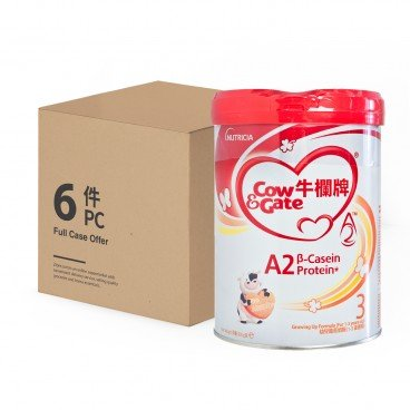 COW & GATE A 2 Β Casein Protein Growing Up Formula 3 Case 900GX6